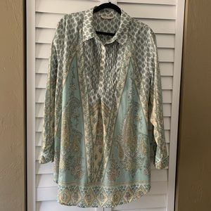 Soft Surroundings Paisley Print Tabitha Tunic